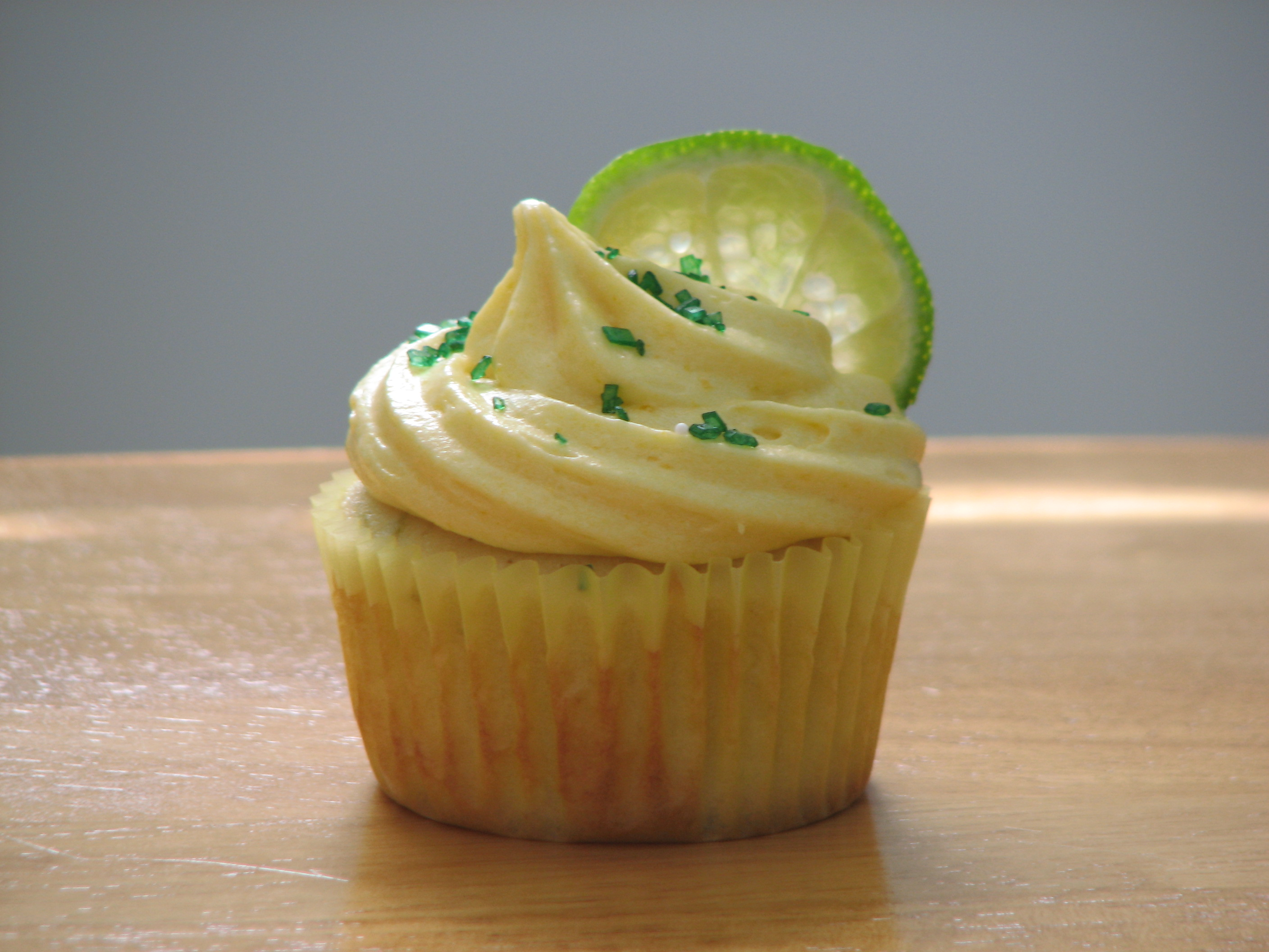 Lime Cupcake with a Mango Buttercream! - All Things Cupcake