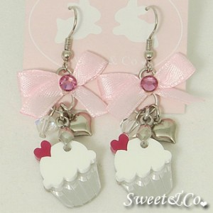 ribbon-white-cupcake-crystal-silver-earrings