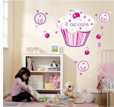 cupcake girl giant wall decals all things cupcake