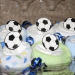 diaper cupcake soccer