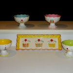 Cupcake party platter and bowls