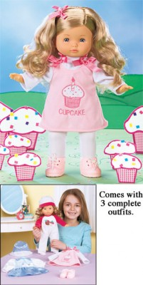 Cute As A Cupcake Doll Set