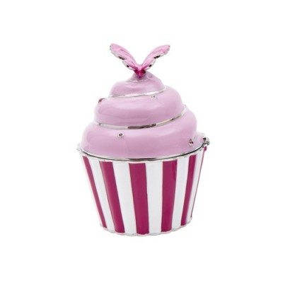 cupcake trinket pot butterfly