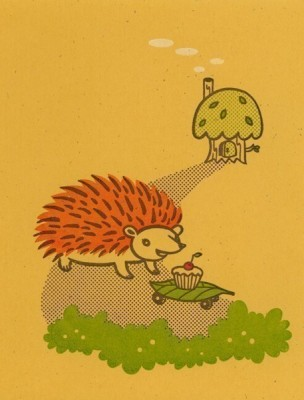 hedgehog cupcake