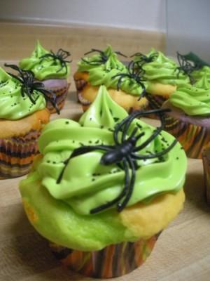 Halloween Cupcake Spider