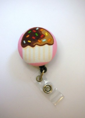 Cupcake ID Badge Reel