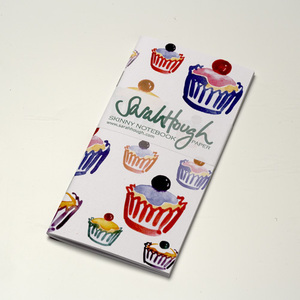 Cupcake Crazy Skinny Notebook