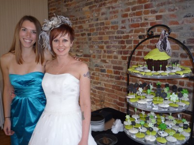 The Bride and her Wedding Cupcake Baker