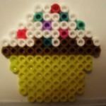 Perler Bead Cupcake