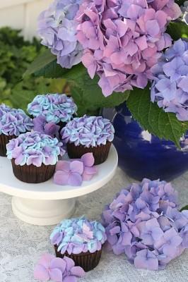 Hydrangea Cupcakes All Things Cupcake
