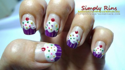 Cupcake nail art all things cupcake i am always envious of people who can pull off nail art i came across this tutorial for cupcake nail art and wish i had the patience and talent to attempt prinsesfo Choice Image