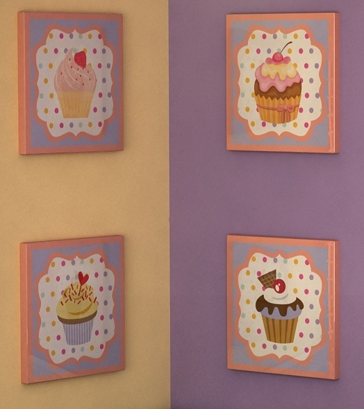 Canvas wall art all things cupcake for Cupcake wall art