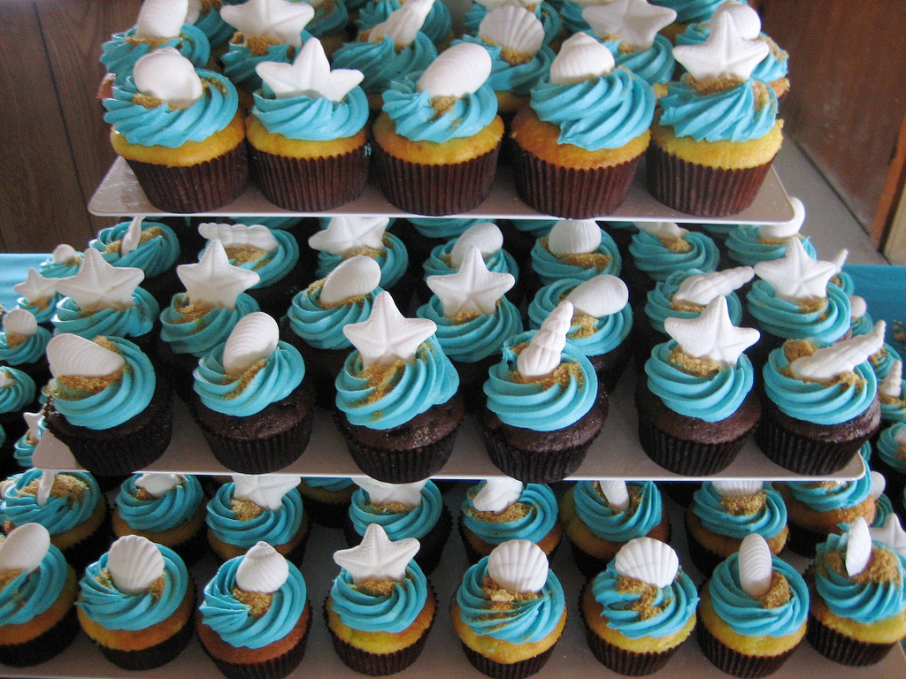 Beach And Seashell Cupcakes All Things Cupcake