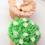 Icing Bliss - Garden Party Cupcakes - Flower cupcakes decorated with buttercream and sugarpaste flowers   - http://www.icingbliss.co.uk/