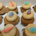 Apple Cider and Spicy Pumpkin topped with edible, pastel sea shells  - www.retrobakerylv.com
