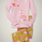 Pink and Green Cupcake Pajamas