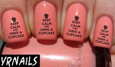 Cupcake Nail Art Decals All Things Cupcake