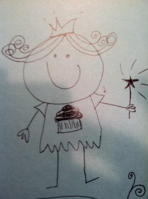 cupcake fairy drawing
