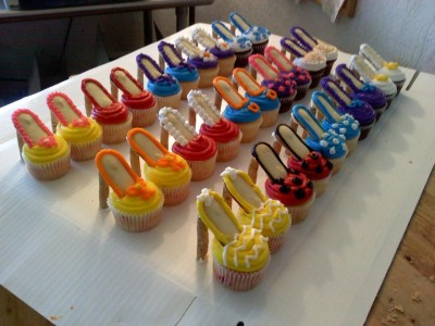 more shoe cupcakes (from facebook)